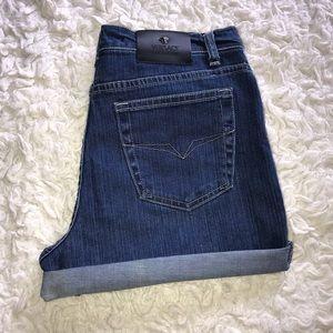 VERSACE jeans couture denim cuffed shorts